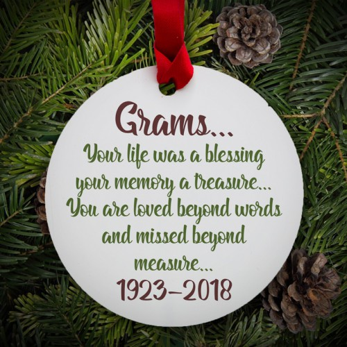 Ornament - Your life was a blessing - Round Metal